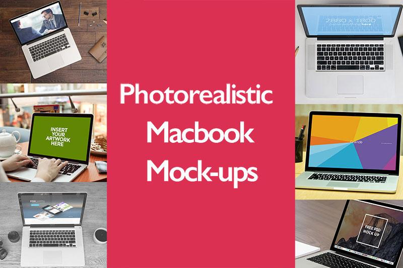 Top 35 Free Photorealistic Apple Macbook Mockup PSD