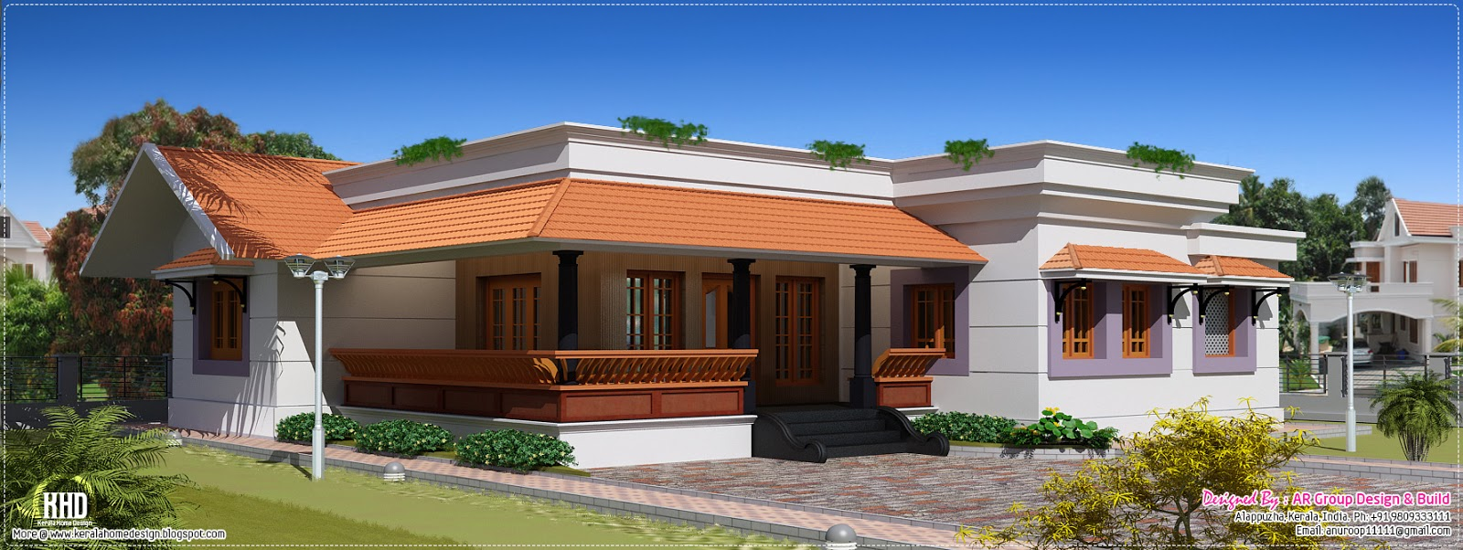 1600 sq feet single floor house kerala home design and for Home designs single floor