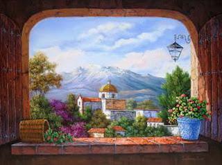 cuadros-paisajes-mexicanos-con-casas-oleo