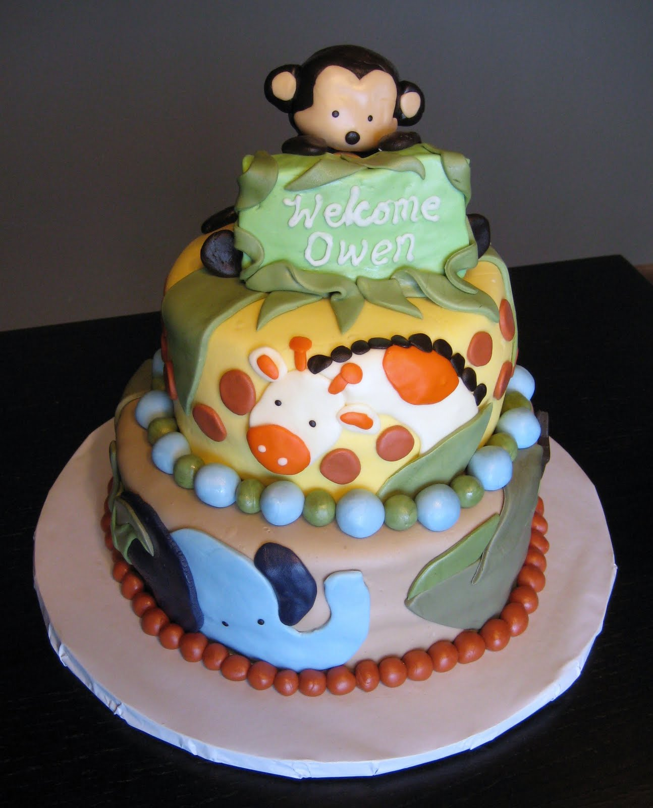 Animal Baby Shower Cake Ideas