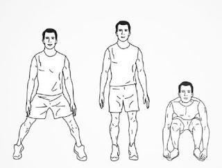 Latihan Circuit Training Menggunakan HIIT Bodyweight Workout di Rumah - jack squat