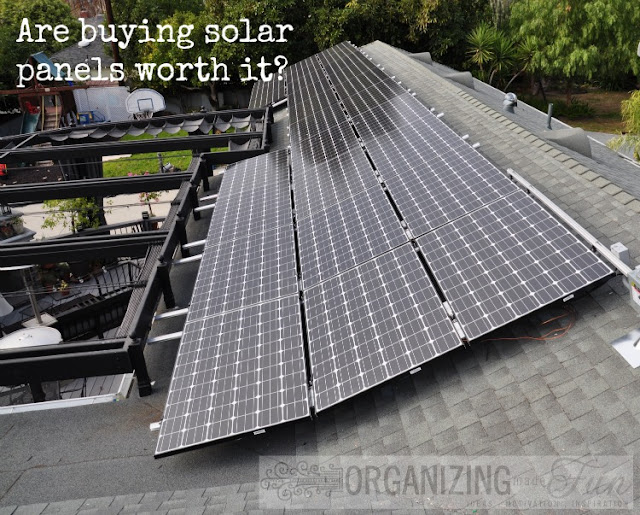 Solar Panels of Organizing Made Fun's home tour
