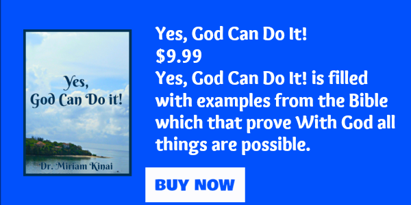 Yes, God can do it