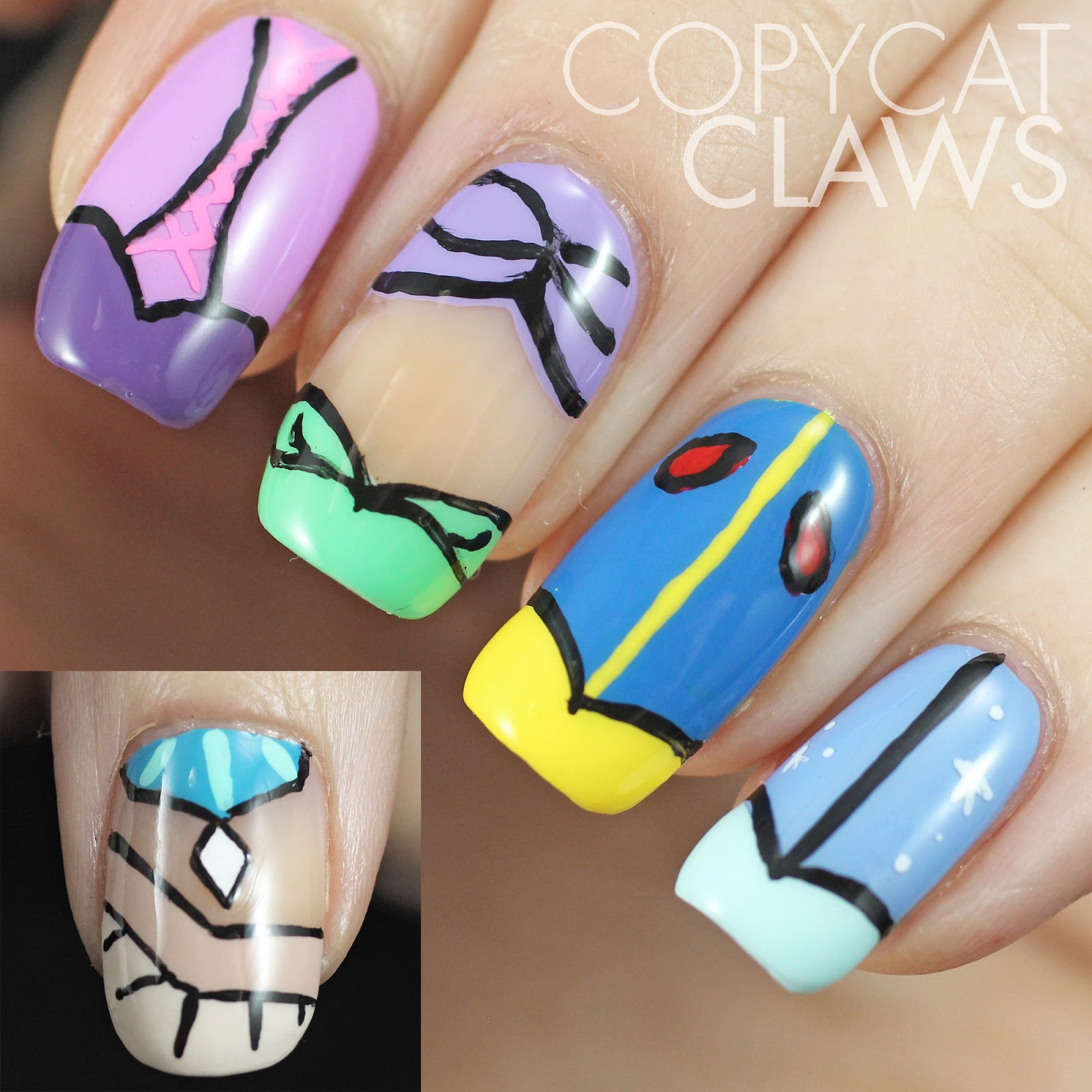 Princess Nail Art: Copycat Claws: The Digit-al Dozen Does Fairy Tales: Day 2