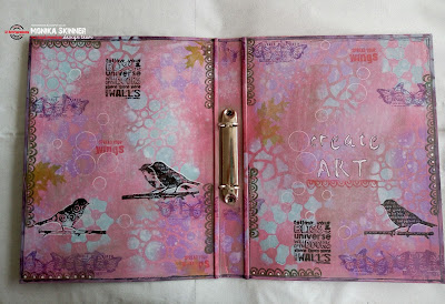 {Mixed Media Tutorial} Stencil Storage Folder Part 2 by Monika