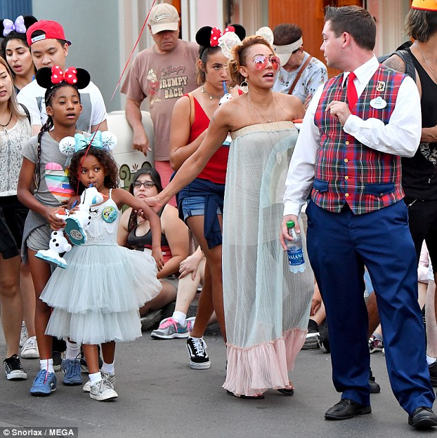 Former Spice Girl, Mel B Takes Daughter To Disneyland To Celebrate Her 6th Birthday(See Photos)