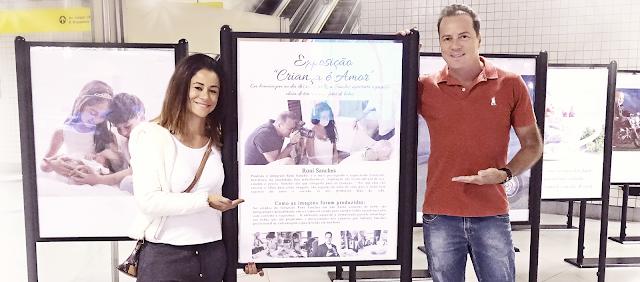 O melhor fotografo newborn do Brasil Roni Sanches em Exposição no metro Luz de São Paulo