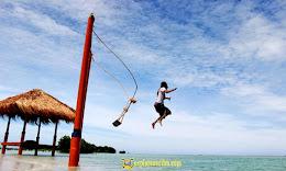 aktivitas wisata pantai pasir perawan pulau pari