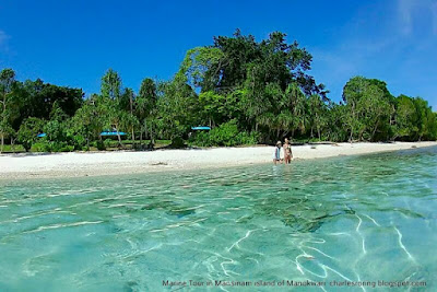 Sightseeing, swimming and snorkeling tour in Manokwari with Charles Roring