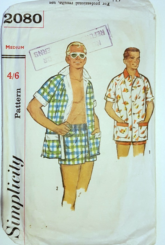 Simplicity 2080 vintage mens beach clothes www.loweryourpresserfoot.blogspot.com