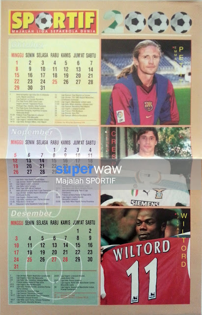 Poster Kalender Sepakbola 2000