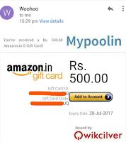 Mypoolin App free gift card