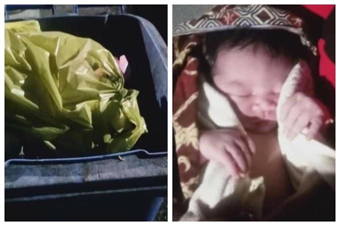 Bayi perempuan masih bernyawa dibuang seperti sampah!
