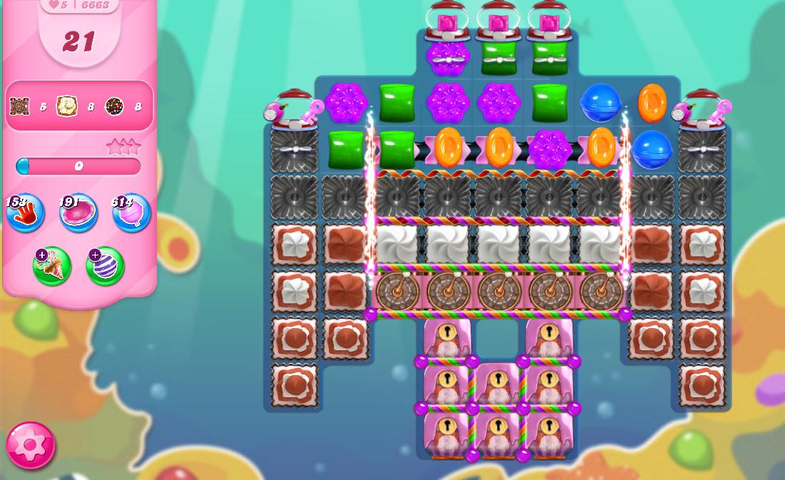 Candy Crush Saga level 6663