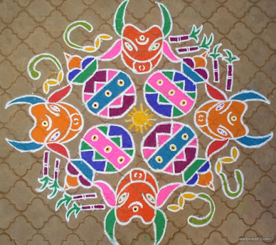 Pongal Rangoli Design Image