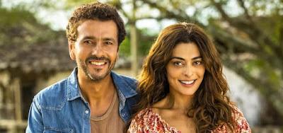 Marcos Palmeira (Amadeu) e Juliana Paes (Maria da Paz) são os protagonistas de A Dona do Pedaço
