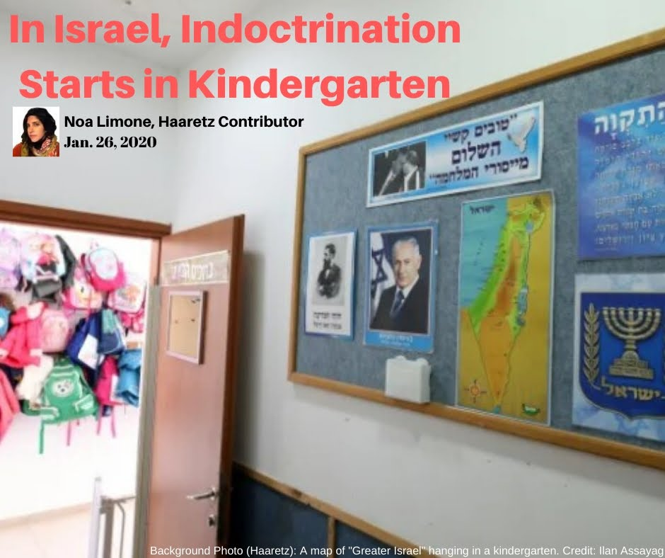 In Israel, Indoctrination Starts in Kindergarten