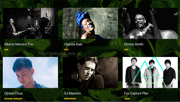 Who is playing at Borneo Jazz Festival 2019
