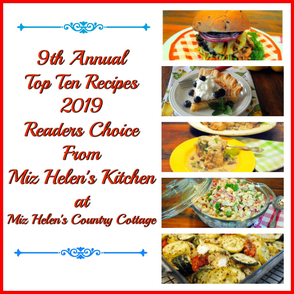 9th Annual Top Ten Recipes 0f 2019