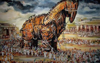Resultado de imagem para o cavalo de troia