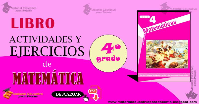 Material Educativo: Libro de Ejercicios de matematica para cuarto ...