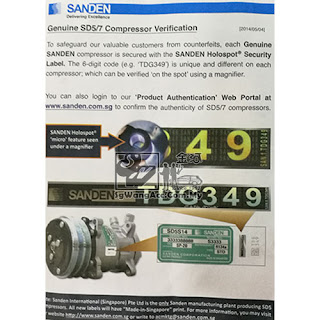 compressor car air cond Sanden sgwangacc