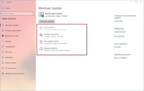 Improvements to Windows Update