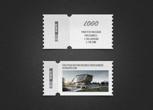 Dos boletos en formato PSD Gratis