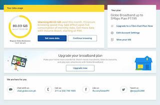 Globe broadbandstatus.globe.com.ph