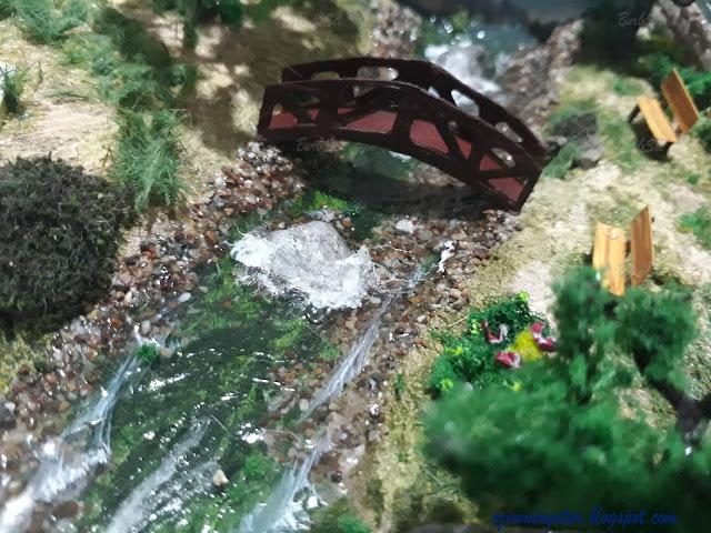 Diorama miniature bridge