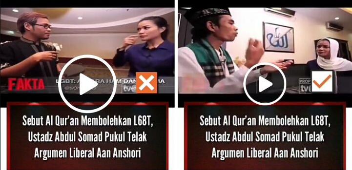 Ini Video Lengkap Ustadz Abdul Somad Habisi Pendukung Kaum Lot Aan Anshori di Acara Tv One