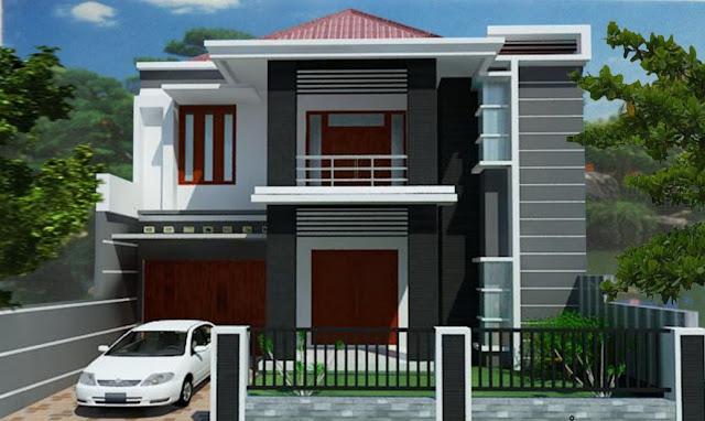 design rumah mungil minimalis 2 lantai