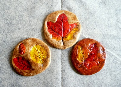 Salt Dough Leaf Print Fall Crafts for Kids #preschool #fall #craftsforkids