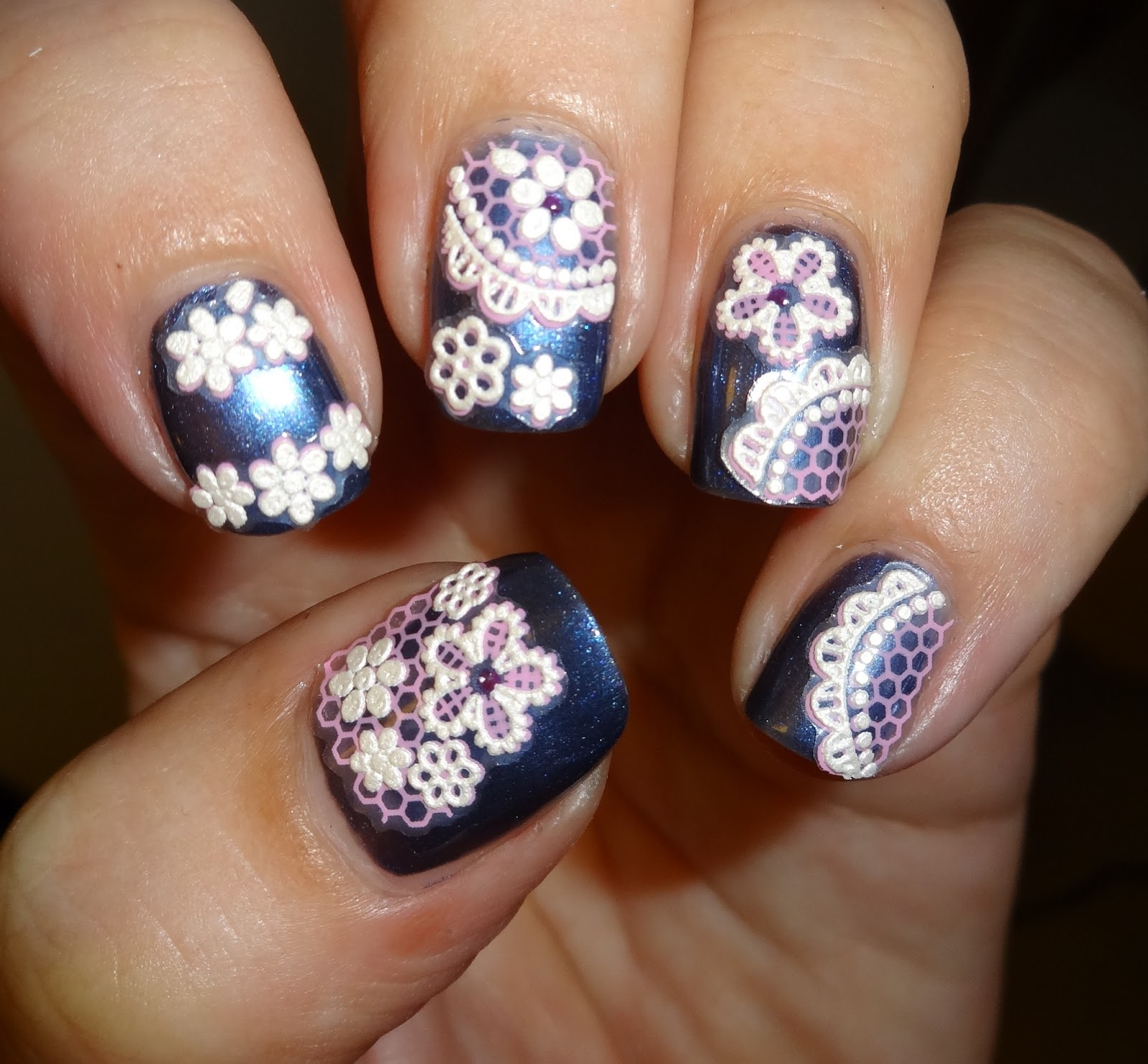 Nail Art Stickers: Wendy's Delights: Tmart Lace Nail Art Stickers