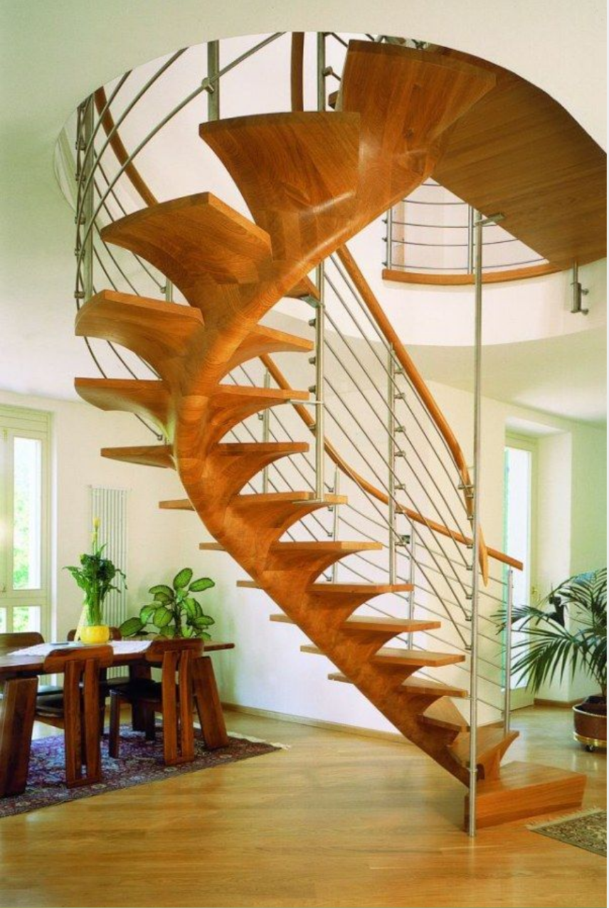 Bagaimanakah Anda memberi komentar desain warna-warni tangga dibawah ini?
