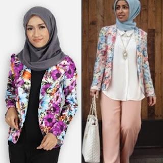17 Model Desain Blazer Batik Terbaru Lengan Panjang Dan Tanpa Lengan / Rompi