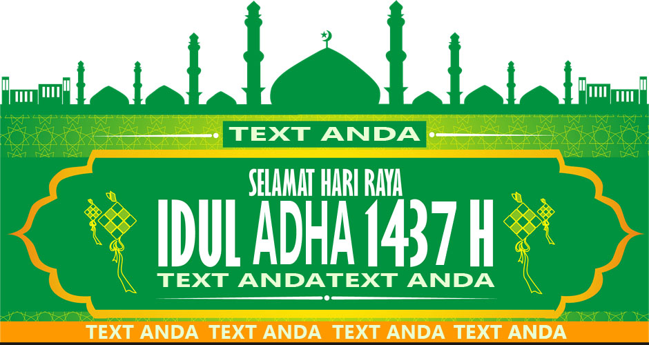 Aksesoris 59+ Background Banner Idul Fitri