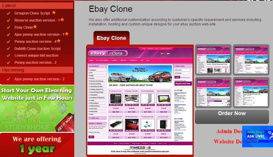 Best Ebay Clone Script Start Your Own Online Auction Bidding Website Like Ebay