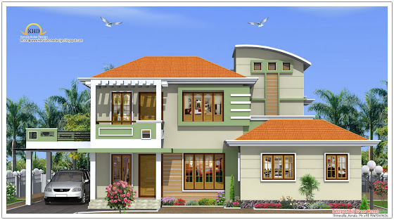 173 square meter (1864 Sq. Ft) House Elevation - October 2011