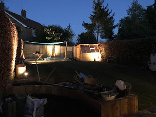 Positioning the garden lights