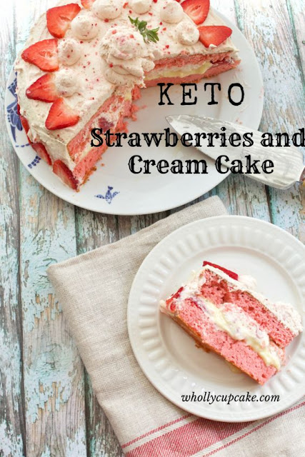 Low Carb Strawberry and Cream Cake Recipe