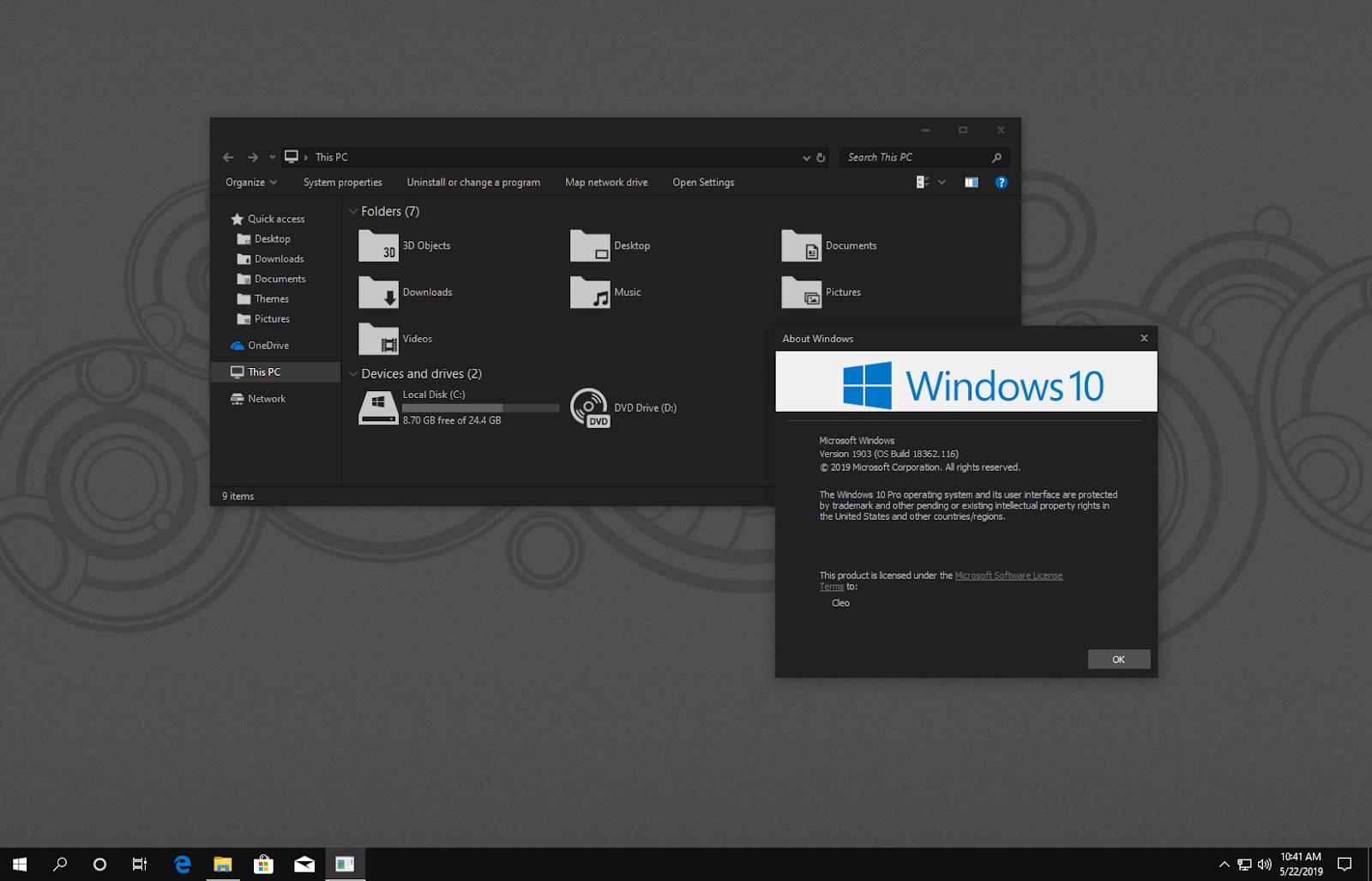 UxThemePatcher For Windows10 May 2019 Update 1903