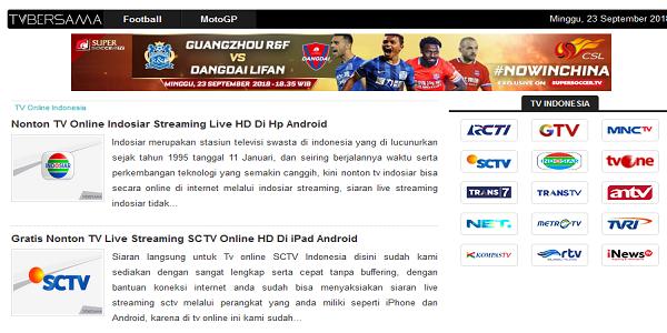 Situs Live Streaming TV bersama