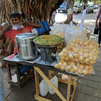 Chaat Seller near Church Gate, Mumbai