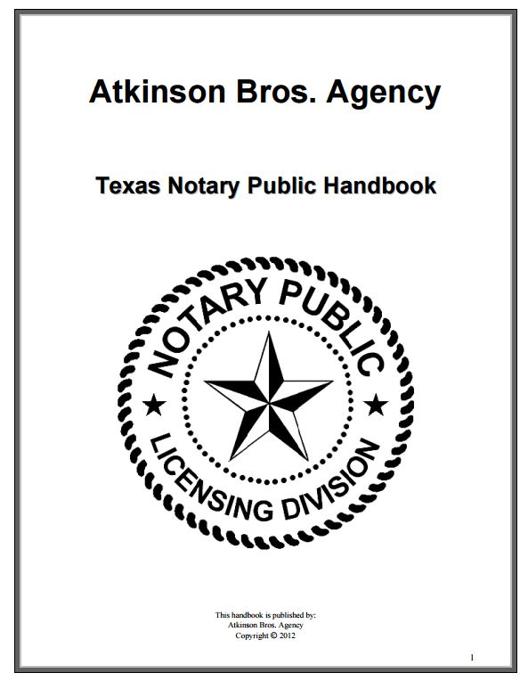 Notaries and notary news august 2016 this is the notary handbook that i would write for texans great job atkinson brothers by the way atkinsonbros if you need this updated ccuart Image collections