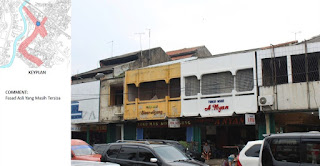 EXISTING FASADE BANGUNAN ASLI pertokoan Pasar Proyek JL.JUANDA Bekasi