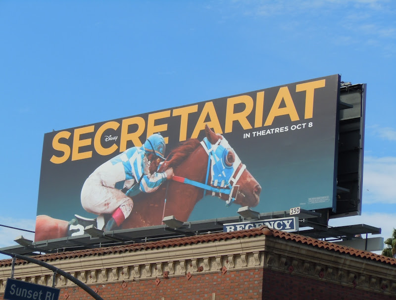 Secretariat movie billboard