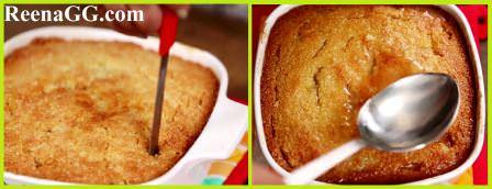 Curd Suji Cake Recipe step 4