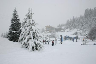 Foto de nieve perfecto para esquis