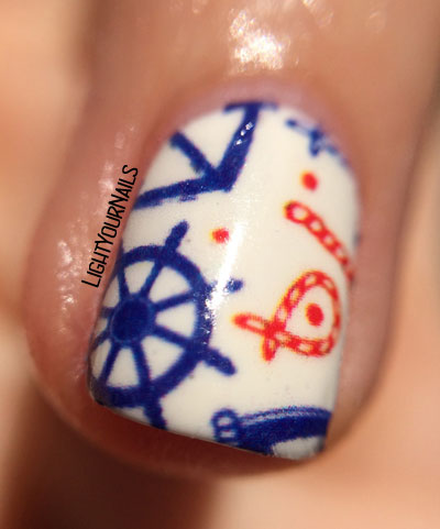 Nicole Diary's nautical water decals